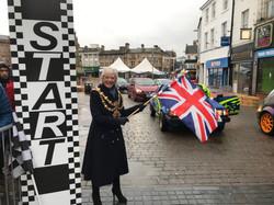 Kate Allsop starts the Top Gear race