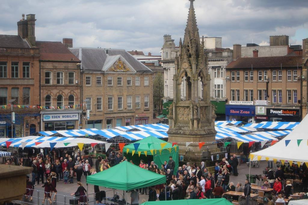 Mansfield Market during an event