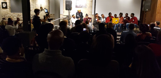 Children of PEace and TRUE Skool on a panel