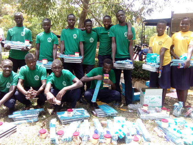 Distribution of Scholastic materials in