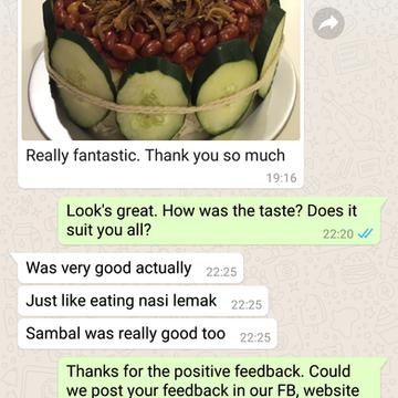 "Annette Lin ""Fantastic. Sambal was very good"""
