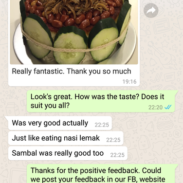 "Annette Lin ""Fantastic. Sambal was very good"""
