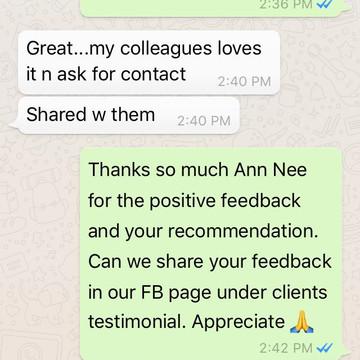 "Ann Nee ""My colleagues love it"""