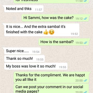 """Sammi Ng """"Super nice. My boss loves it so much"""""""