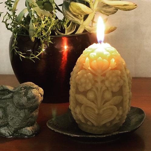 Battenburg Lacy Egg Candle