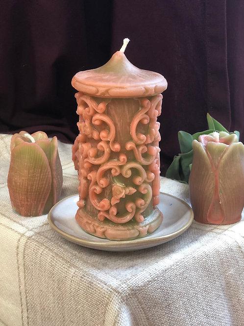 Springtime Filigree Pillar