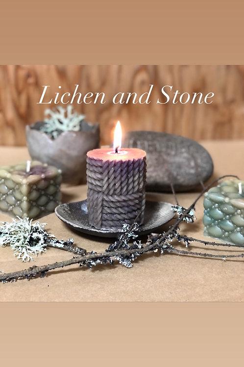 Lichen & Stone Rope Candle