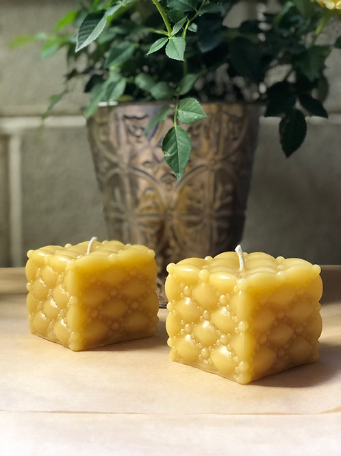 Beeswax Jewel Box Candle