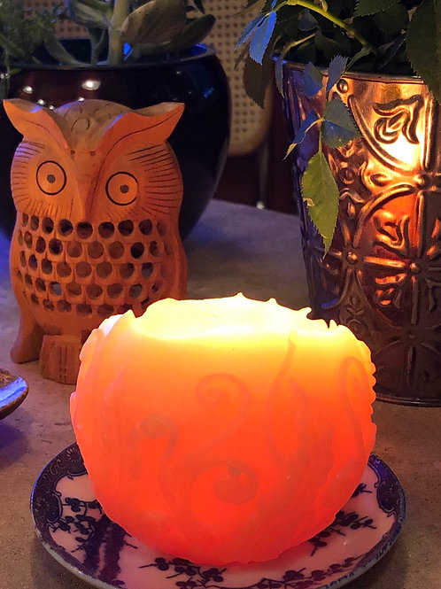 Enchanted Fairy Orb Beeswax Candle