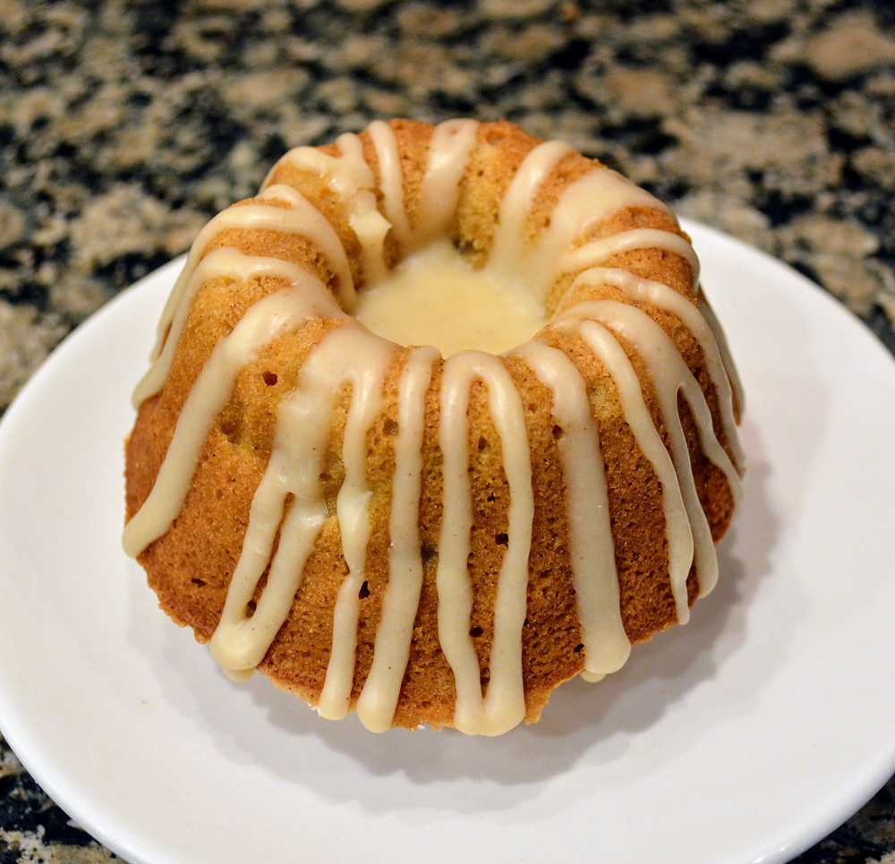 Soft and Moist Mini Spiced Pear Bundt Cakes with Vanilla Browned Butter Glaze