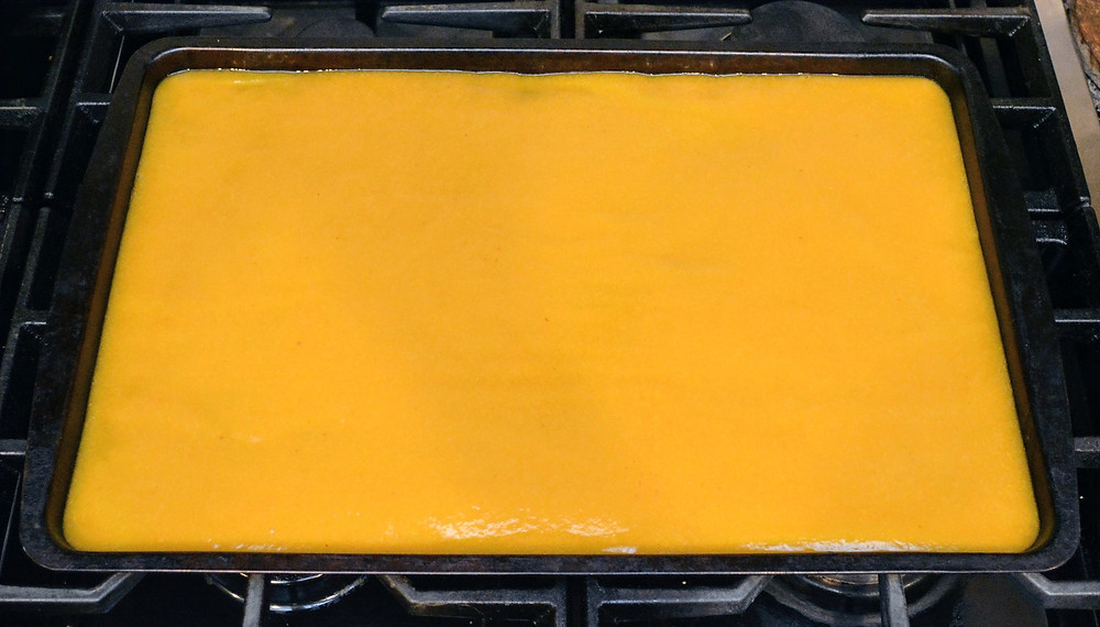 Pureed Peaches for Peach Fruit Leather