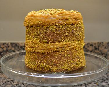 Phyllo Layered Pistachio Baklava Cake