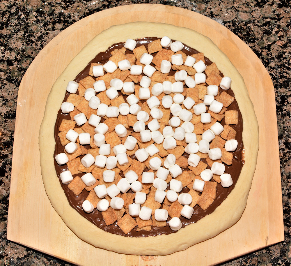 Marshmallow Layer of S'mores Pizza