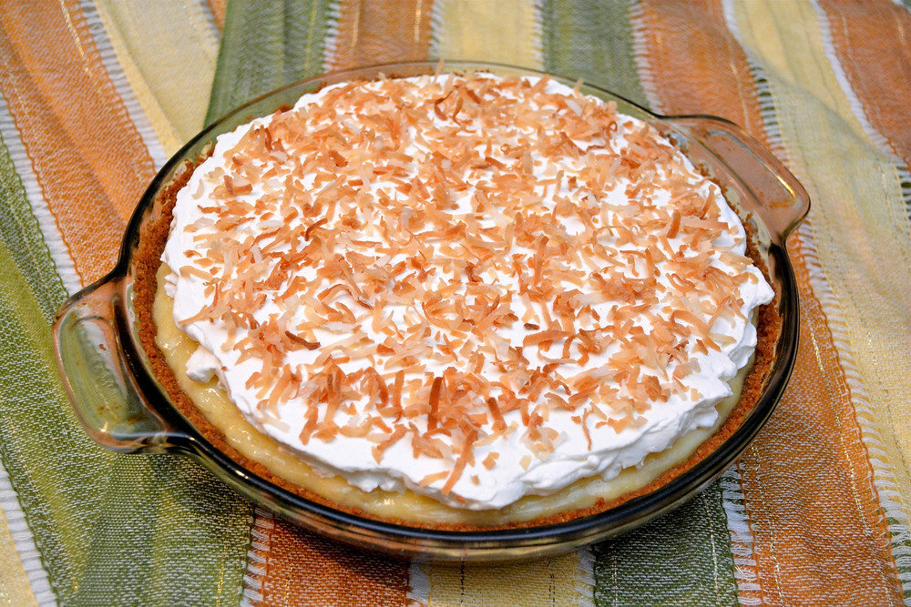 Tropical Pineapple Coconut Cream Pie with Toasted Coconut