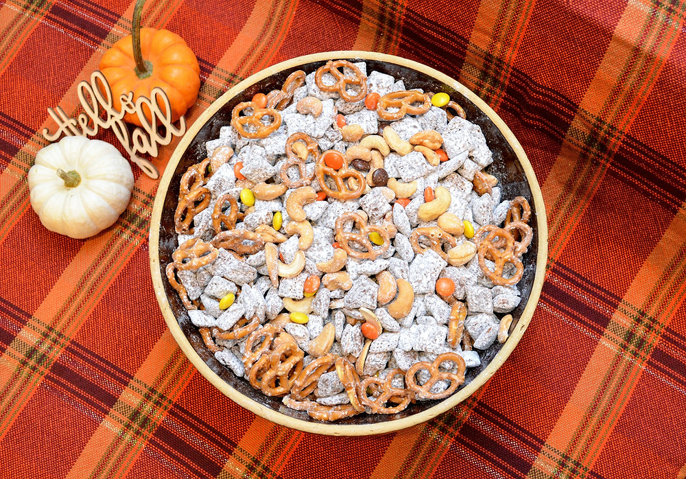 Gluten-free Autumn Trail Mix Puppy Chow