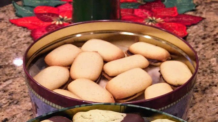 Tender Homemade Mint Milano Shortbread Cookies
