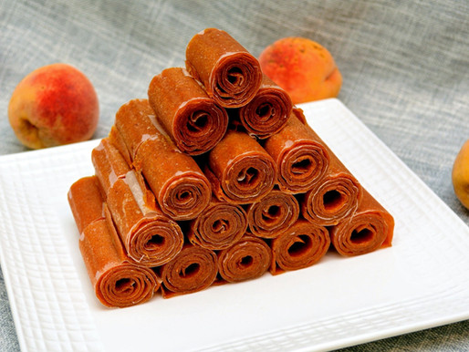 Peach Fruit Roll-ups (Fruit Leather)