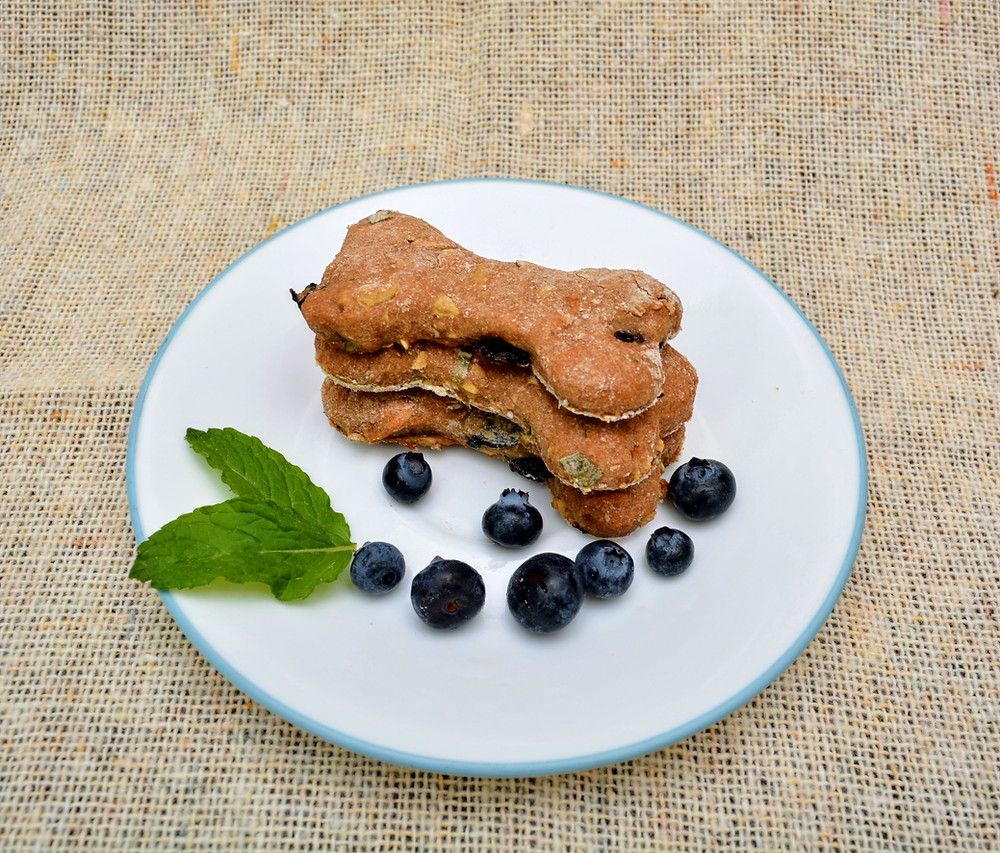 Healthy Dog-safe Blueberry-Apple-Mint Dog Treats