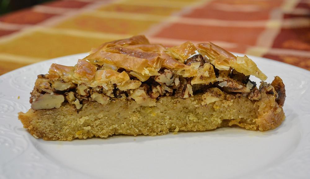 Baklava Cookie Bars with Shortbread Cookie Crust