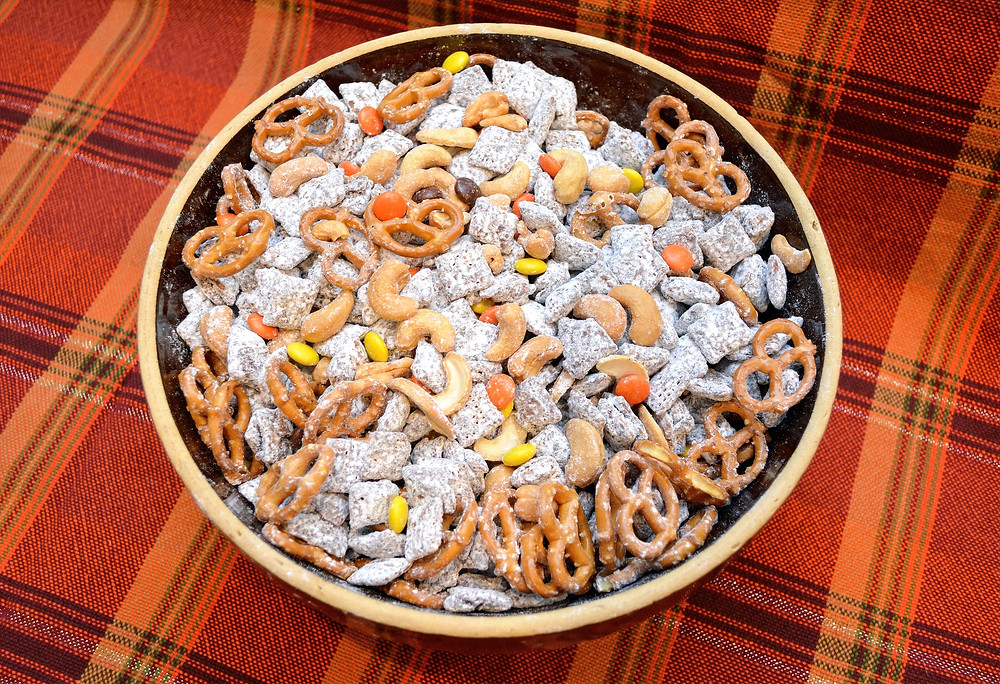 Sweet and Salty Trail Mix Muddy Buddies