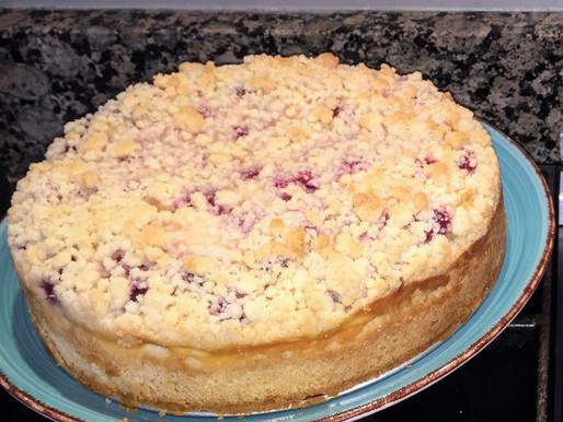 Raspberry and Cream Coffee Cake