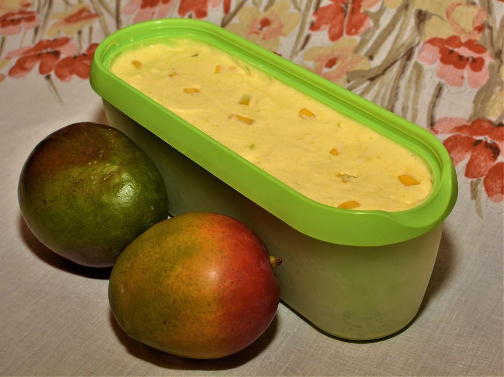 Chunky Homemade Mango Ice Cream