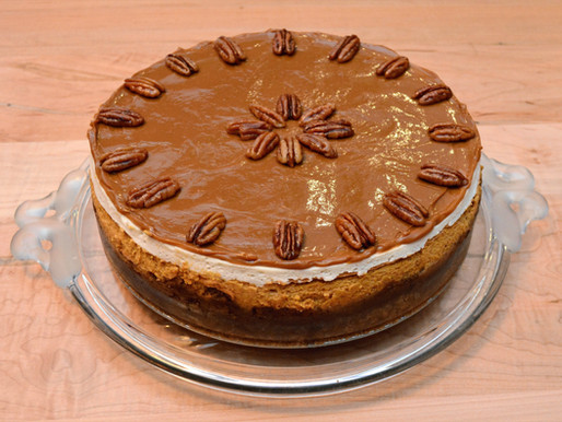 Caramel Pecan Pie Pumpkin Cheesecake