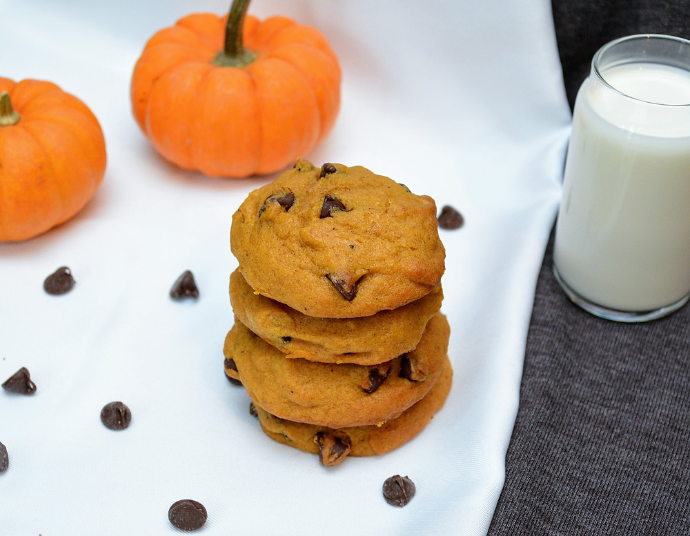 Light and Fluffy Pumpkin Chocolate Chip Cookies