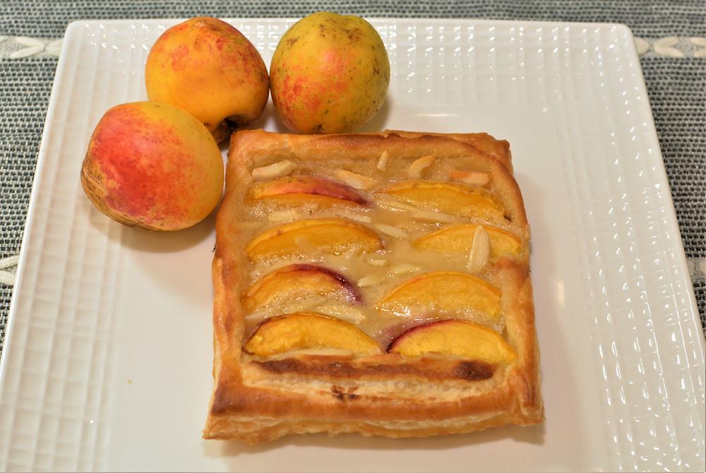 Fresh Peach Danish Pastry for Breakfast