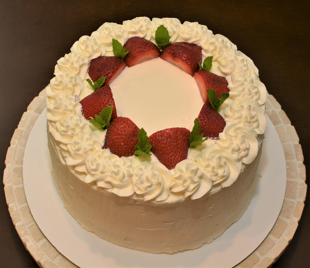 Strawberry Shortcake Layer Cake with Whipped Cream Cheese Frosting