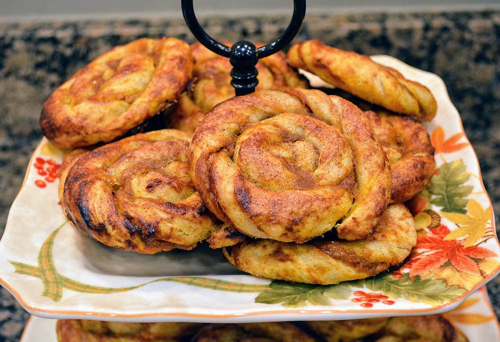 Flaky Maple Pumpkin Puff Pastry Swirls