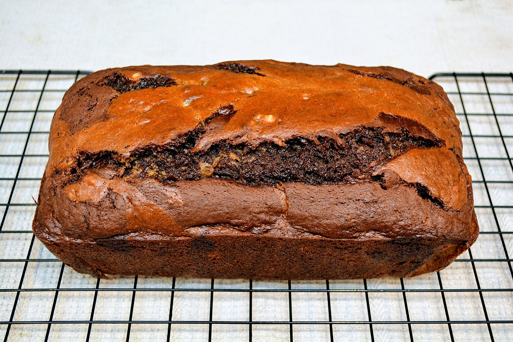 Moist and Tender Marbled Banana Bread
