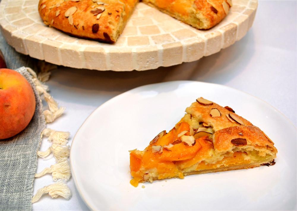 Sweet and Nutty Peach Frangipane Galette