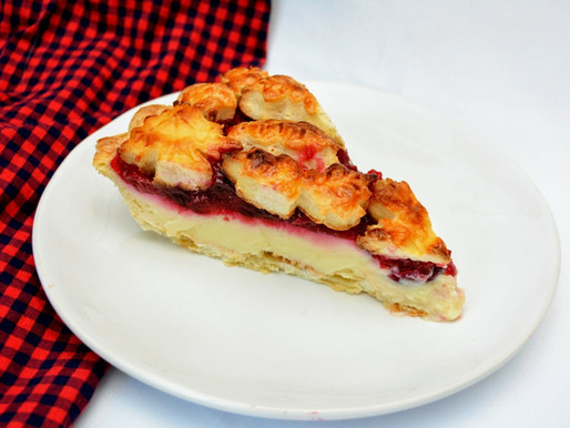 Cranberry Orange Custard Pie