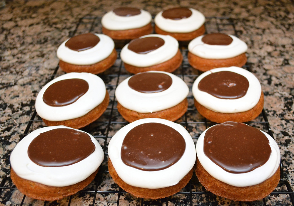 S'mores Whoopie Pies with Milk Chocolate Ganache Filling