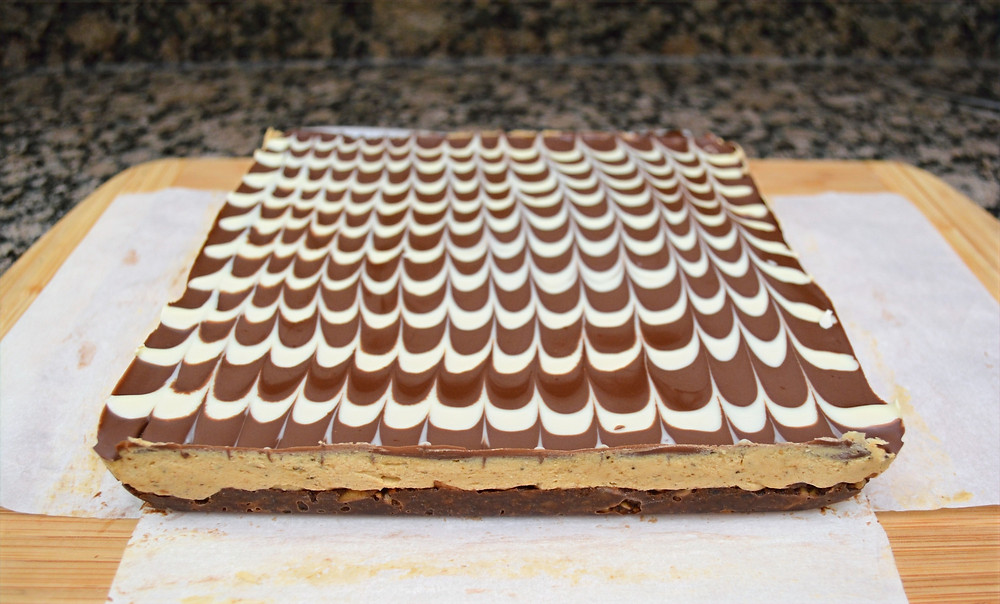 Three-layer Mocha Latte Nanaimo Bars