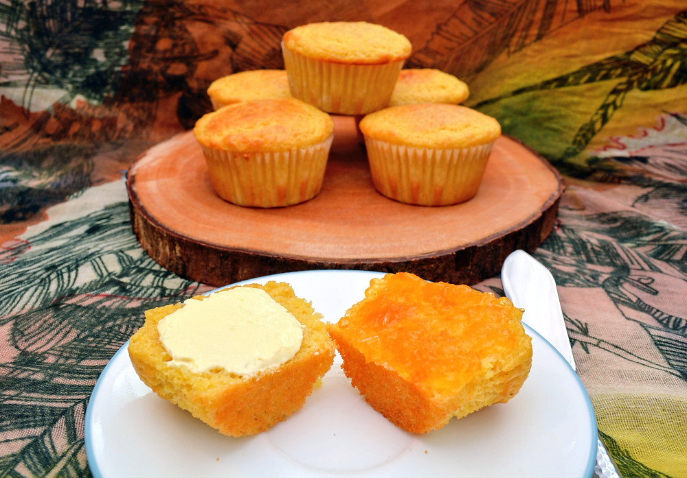 Rustic Honey Cornbread Muffins