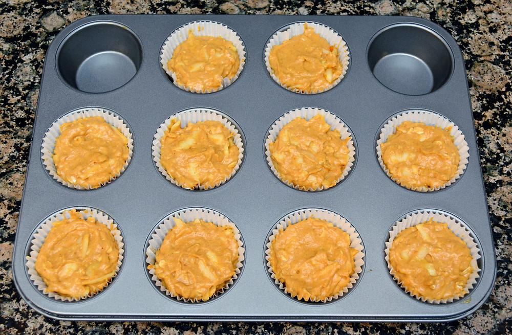 Homemade Apple Pumpkin Dog Cupcakes