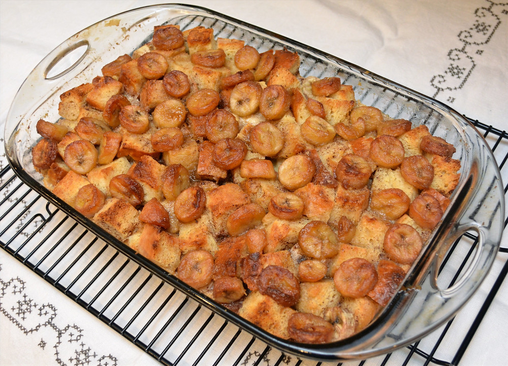 Baked Bananas Foster Bread Pudding