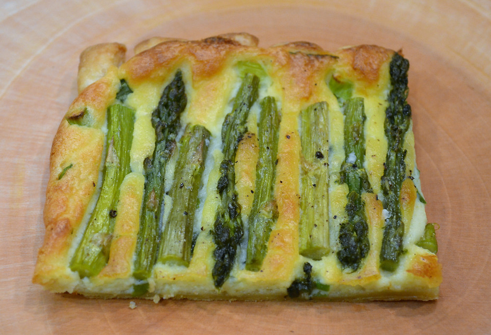 Savory Lemon Asparagus Tart Appetizer