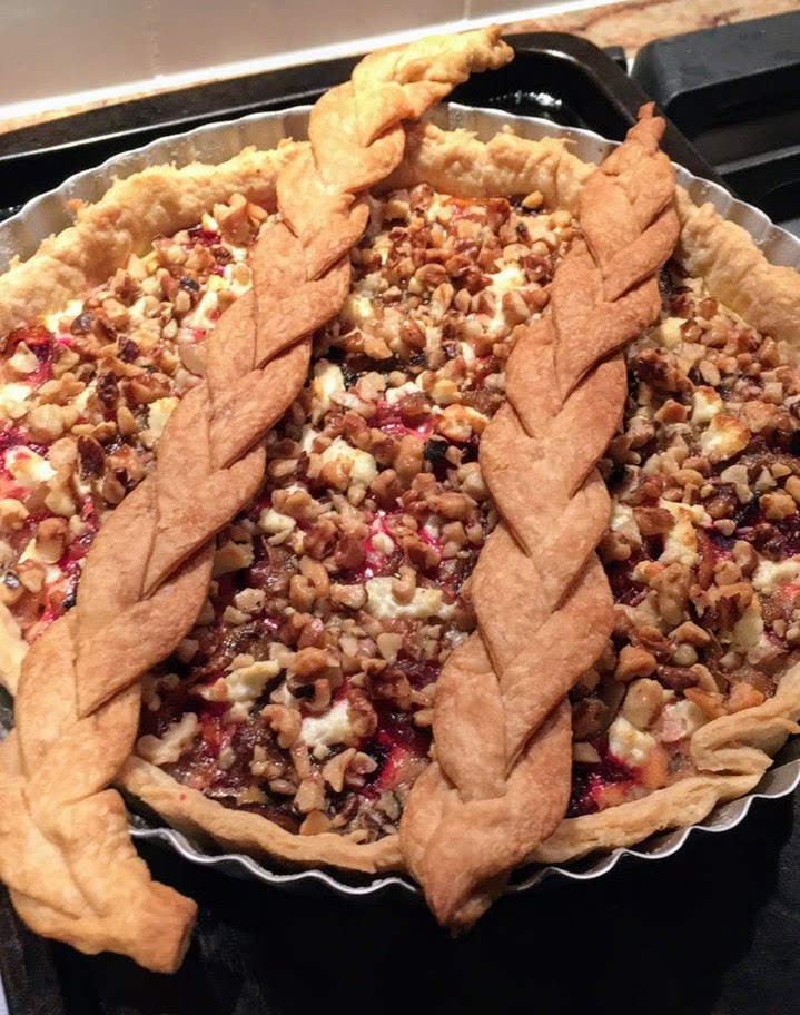 Vibrant and Savory Beet, Walnut, and Goat Cheese Tart