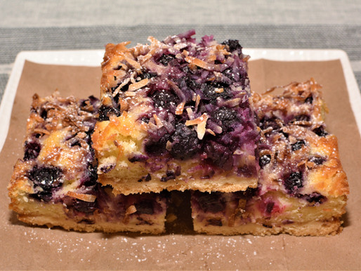 Blueberry Lemon Coconut Cake Bars