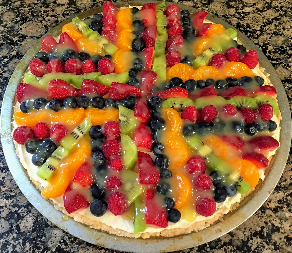 Vibrant Fruit Pizza with Cream Cheese Filling