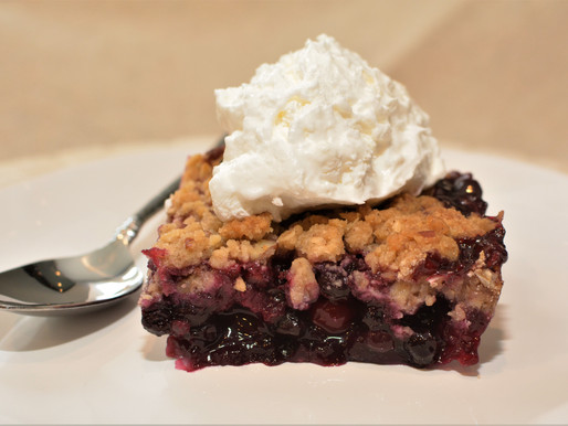 Cranberry Blueberry Maple Crisp