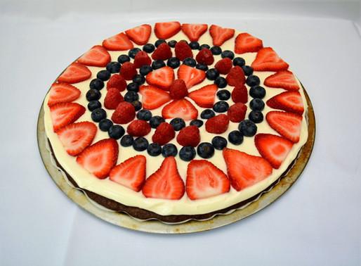 Patriotic Berry Brownie Pizza