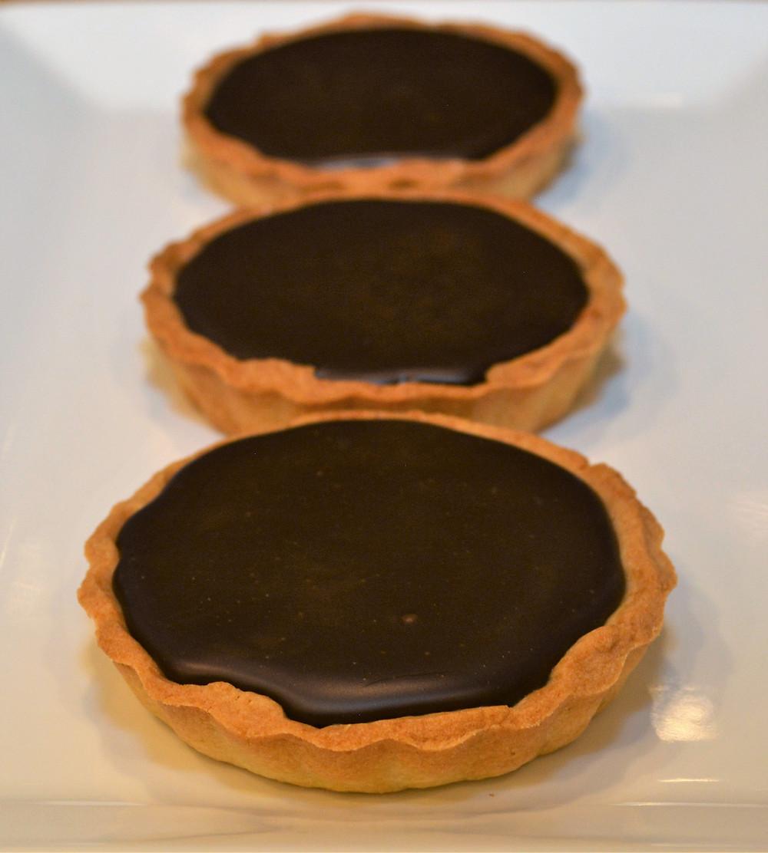 Sweet and Salty Dark Chocolate Salted Caramel Mini Tarts