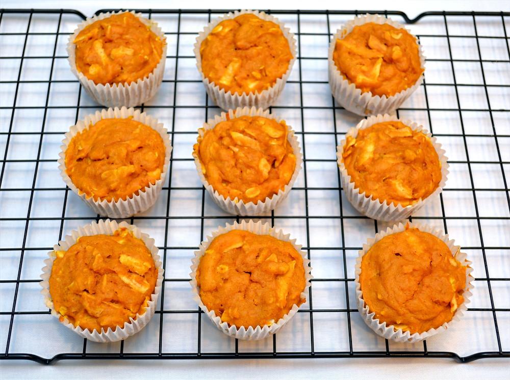 Healthy Apple Pumpkin Pupcakes