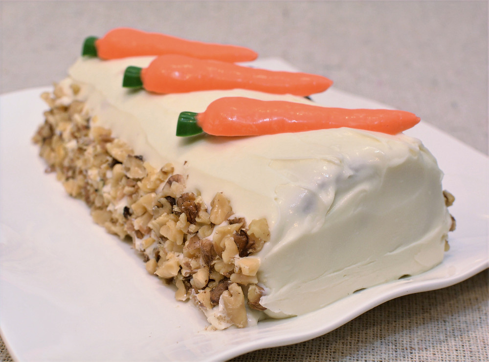 Carrot Cake Roll with Walnuts