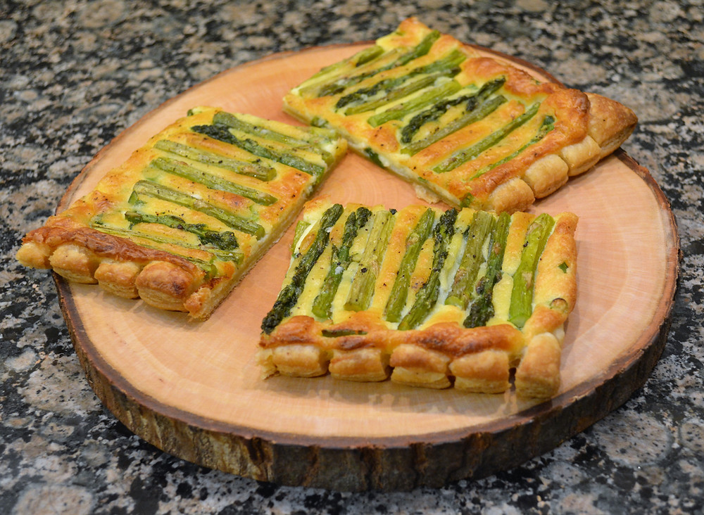 Lemon Asparagus Tart with Puff Pastry