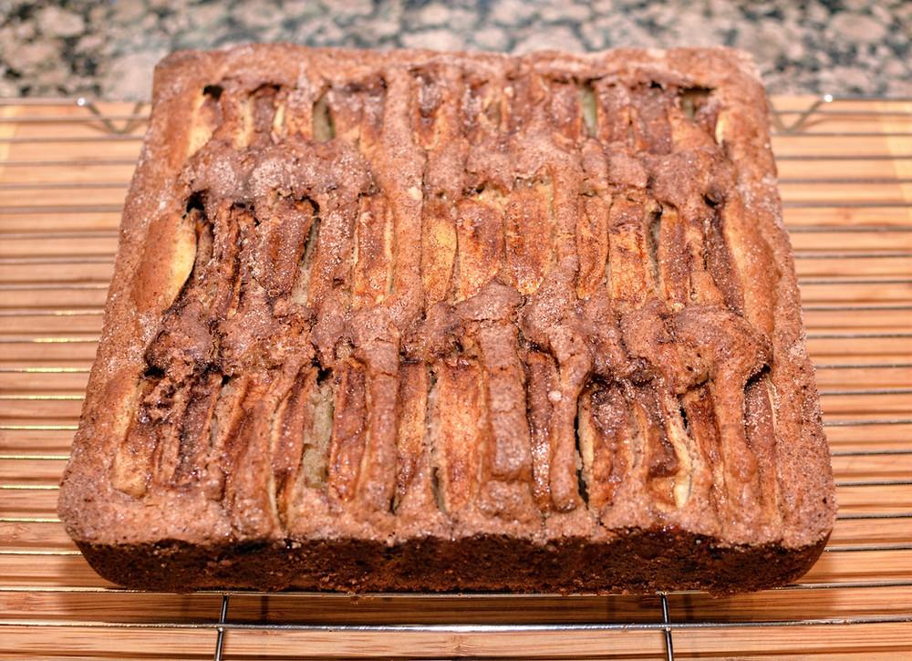 Fresh baked Apple Cider Cake
